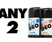 Any 2 Deodorant Your Choice Deoderant Stick Vegan Cruelty Free Natural Deodorant - Free Shipping
