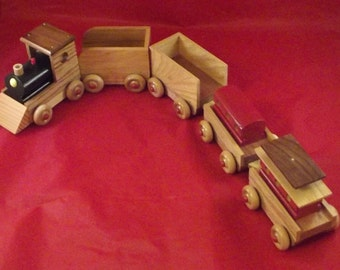 """WOODEN TRAIN HANDCRAFTED 26"""" long"""