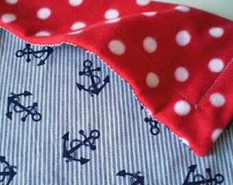 Nautical Anchor Baby Toddler Blanket for stroller or sofa