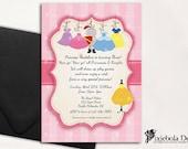 Co-Ed Princess Dress Up- Knights in Shiny Armor- Princes/Knight Birthday Invitation