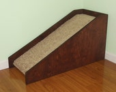 """18"""" High Dog Ramp, Pet Ramp, Beautifully Handcrafted to Match Your Decor. Help Prevent Injuries to Your Pets. Hand Made in the USA"""