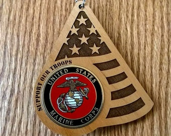 Support Our Troops - Military - Army, Air Force, Marines,Coast Guard, and Navy Ornaments