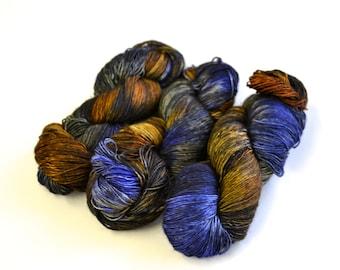 Hand dyed yarn pick your base - St. Laurence Sunrise - sw merino cashmere nylon fingering dk worsted