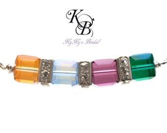 Mothers Jewelry, Mom Necklace Birthstone, Birthstone Necklace, Sterling Silver Necklace, Birthstone Jewelry, Mother's Jewelry, Mom Gifts