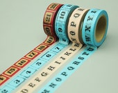 4 Rolls Washi Tapes - Japanese Washi Tape - Masking Tape - Deco Tape - Filofax - Gift Wrapping - NMTS055