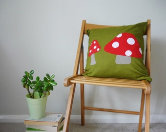 Toadstool cushion with inner - Mushroom cushion  - Woodland nursery- Forest