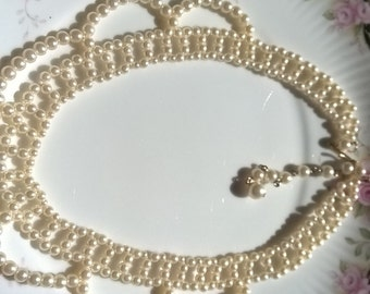 beautiful vintage pearl necklace lovely bridal jewellery