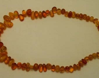 100% Natural Original AMBER Beads Necklace #104S