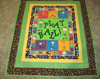 Play Ball Baby or Toddler Quilt