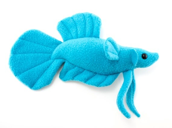 In stock blue betta fish stuffed animal plush toy plakat for Fish stuffed animal
