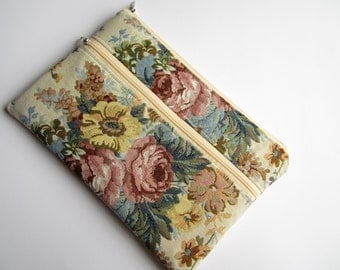 Bouquet iPad sleeve with zipper, iPad Air sleeve, iPad case, iPad Air case, iPad Air cover, ipad mini sleeve
