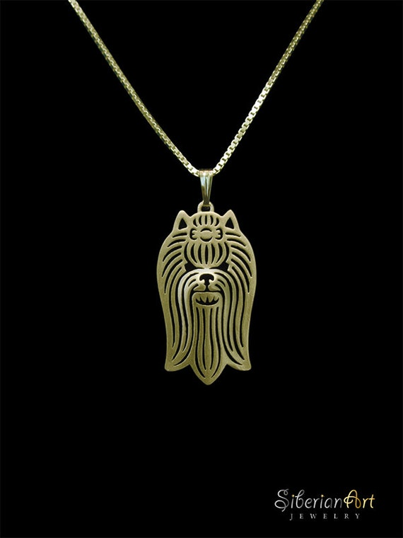 terrier jewelry gold pendant and necklace