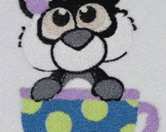 Panda Digitized Machine Embroidery Design