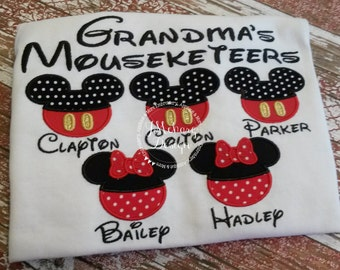 Gorgeous Custom embroidered Disney Mousketeers Shirts for the Family! 806
