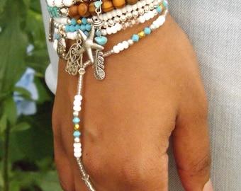 Swarovski Slave Bracelet Hand Jewelry Turquoise Bracelet Hand chain