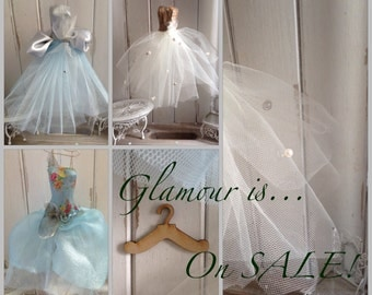 SALE SALE SALE!!!! Assemblage Art Miniature Dress - Ella May, Audrey, Grace