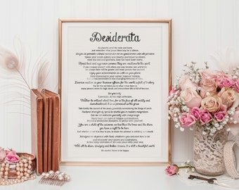Desiderata | Printable Wall Art | Printable Quote | Inspirational Art | Instant Download | Wall Art Quote | Motivational Art | Quote Print