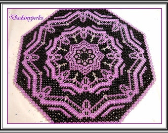 pattern 2 sizes bead weaving doily princess