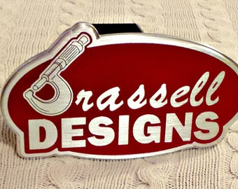 Custom made hitch cover machined with your design or ours