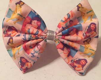 Pastel Bettie Page Fabric Hair Bow