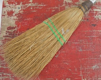 Vintage Sweeper Broom Brush with Real Straw