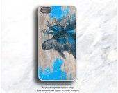 iPhone 6S Case Moose, iPhone 6S Plus Case Wood Print, iPhone 5s Case Moose, iPhone 6 Case, Antlers iPhone Case, TOUGH Wood iPhone Cover T19d