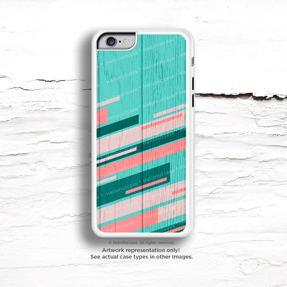 iPhone 6S Case,Teal iPhone 6S Plus Case Wood Print, iPhone 5s Case Teal, iPhone 6 plus Case, Mint iPhone Case, Coral Chevron iPhone Case C39