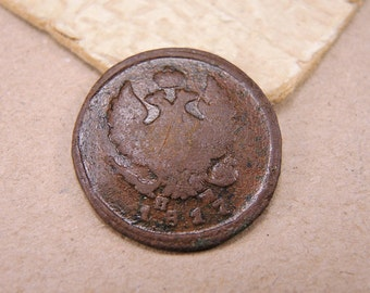 1817 Old Russian Coin Antique Copper Coin - 2 kopeck - c69