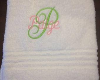 Custom Monogrammed Towel