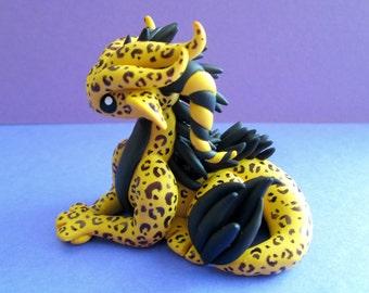 Large Leopard Dragon Sculpture