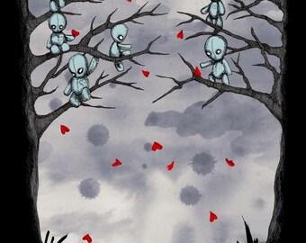 Plush Heart Pit Fine Art Print