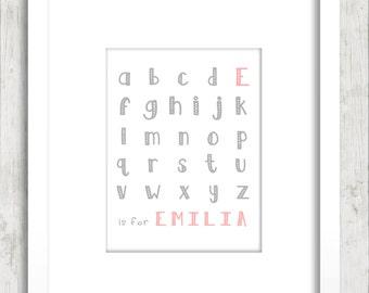 Alphabet Name Print