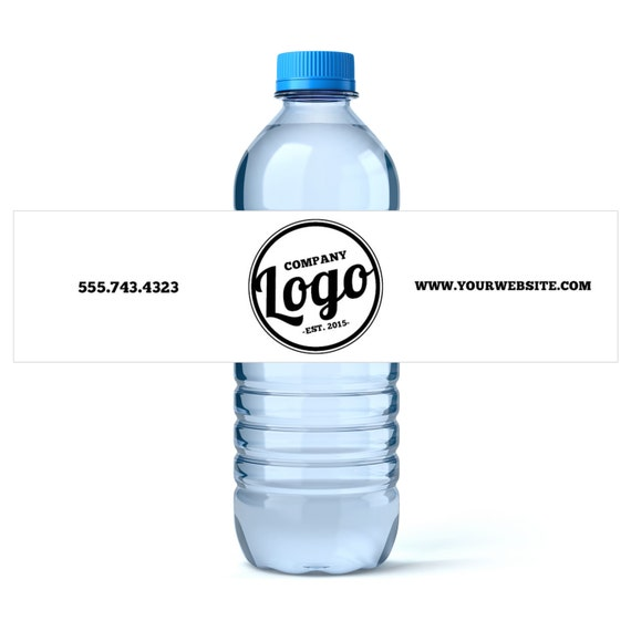 Business Advertising Custom Water Bottle Labels Your