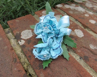 Lace Flower Corsage, Wedding, Prom, or Party.