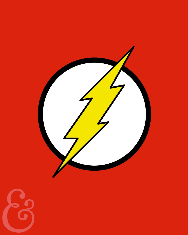 the flash symbol minimalist poster. Black Bedroom Furniture Sets. Home Design Ideas