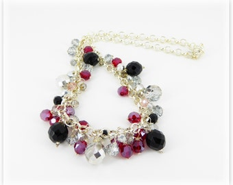 Black & Red  sparkly necklace