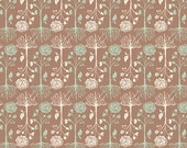 SALE Rooted Earth by Bonnie Christine for Art Gallery Fabric 1/2 Yard Cultivate Floral Brown Floral Flowers and Roots Light Brown