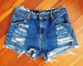 Top Shreds High Waist Shorts