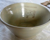 """Ceramic Yarn Bowl """"Know Your Cuts of Lamb"""" charming"""