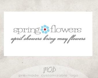 Premade Boutique Logo & Watermark - Spring Flowers