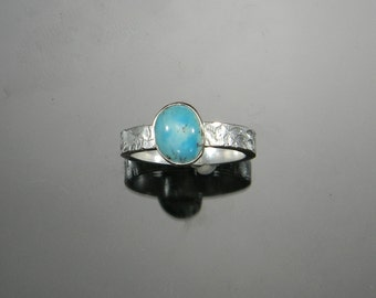Turquoise Ring, Silver Ring, Sterling Silver, Natural Turquoise, Natural Untreated Turquoise Ring, Stackable Turquoise Ring, Made to Order