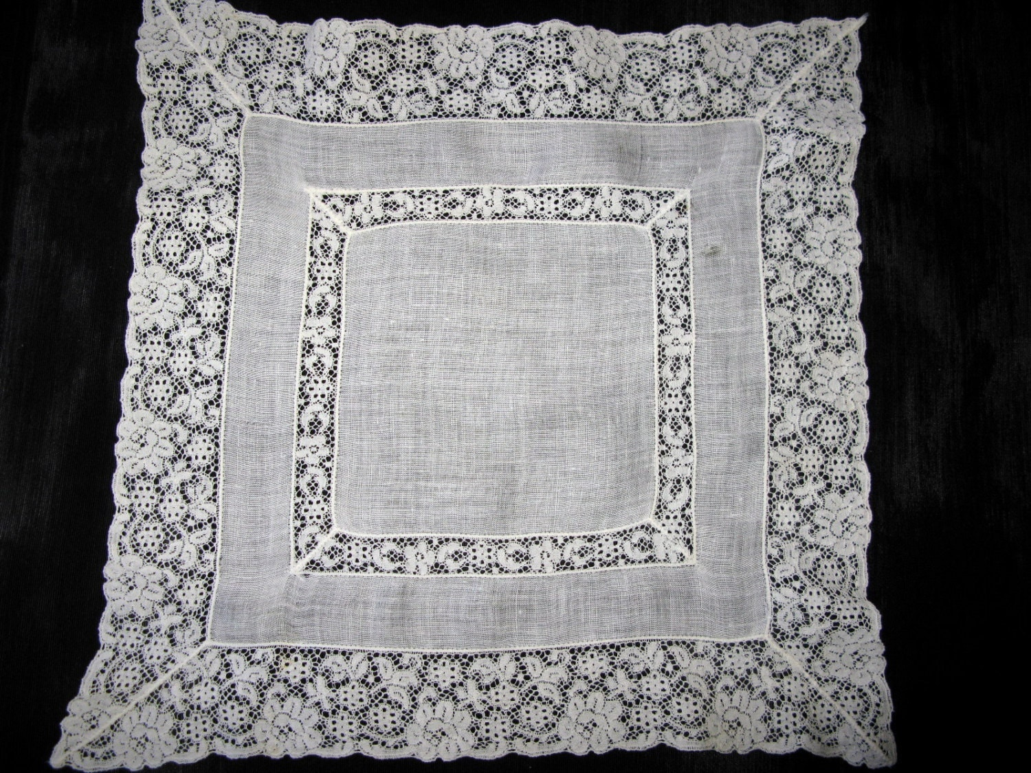 Lace Handkerchief Antique Bridal Handkerchief Wedding