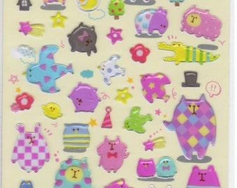 Japan Kawaii CHEERFUL ANIMAL Stickers sheet/91531