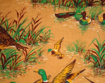 Brown Duck Flannel Fabric by the Yard
