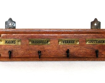 Authentic Vintage French Towel Rack, for an instant touch in your kitchen