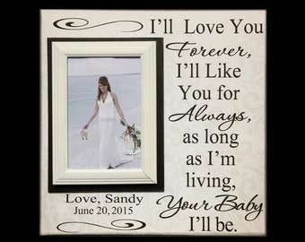 Wedding Frame for Mom ~ Wedding Thank You Gift From Bride ~ Gift to Mother Of The Bride Frame ~ I'll Love You Forever...Your Baby I'll Be ~