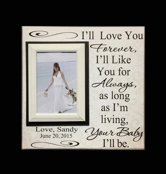Wedding Thank You Gift For Mom : Wedding Frame for Mom ~ Wedding Thank You Gift From Bride ~ Gift to ...