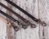 Leather Lanyard, Leather Neck Strap, Keychain, Key Holder, Leather Keychain,  Leather Id Badge Lanyard, Key Fob, Key Strap, Neck Lanyard
