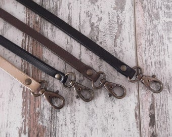 Leather Lanyard, Leather Neck Strap, Keychain, Key Holder, Leather Keychain,  Leather Id Badge Lanyard, Key Fob, Key Strap, Neck Lanyard