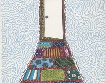 Open Door Illustration | Doorway Illustration | Open Door Artwork | Doorway Artwork | Original Artwork | Cosmic Doorway Artwork | Door Art